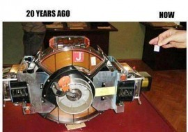 1 GB Hard Disk 20 years ago… and Now.