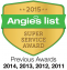 2015 Super Service Award for Computer Repair & IT Services