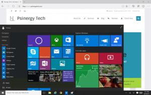 New Windows 10 Start Menu